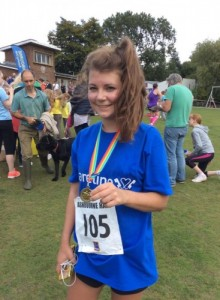 Ellie Woodward completes the Ashbourne Half Marathon for Careline 2015