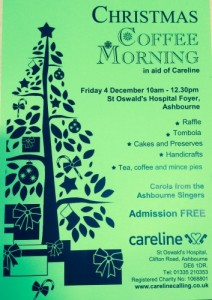xmas coffee morning poster photo