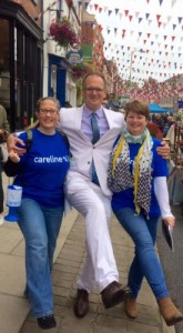 Charles Hanson with Carolyn and Jo